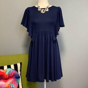 ASOS Navy Blue Smock Mini Dress US 2 UK 6